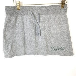 Vintage William And Mary Mini Gray Green Skirt S/M